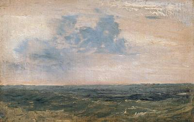 Study Of Sea And Sky Art Print by Joseph Mallord