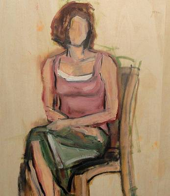 Painting - Study Of Stephanie  by Kevin Davidson