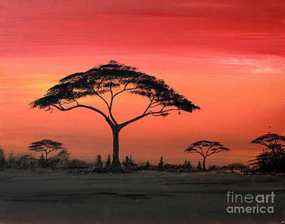 Study Of Sunset 6 Art Print by Abu Artist