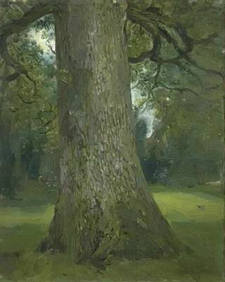 Painting - Study Of The Trunk Of An Elm Tree 1821 by Constable John