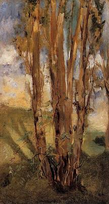 Tree Painting - Study Of Trees by Edouard Manet