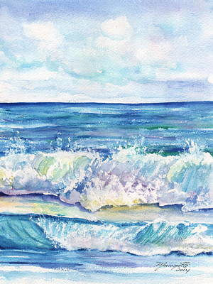 Painting - Study Of Waves by Marionette Taboniar