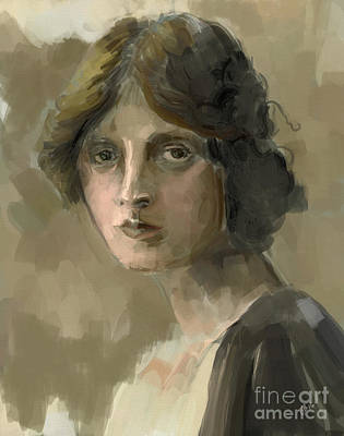 Study - Woman Art Print by Carrie Joy Byrnes