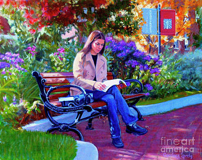 Painting - Studying Before Class by Candace Lovely