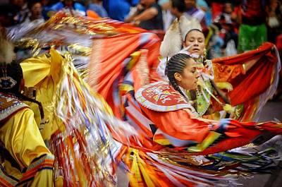 Photograph - Fancy Shawl Dancers 3 by Clarice Lakota