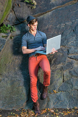 Photograph - Studying Outside by Alexander Image