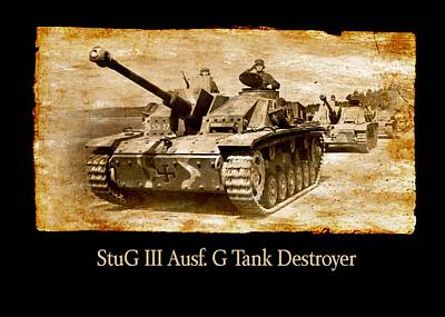 Digital Art - Stug IIi Ausf G Tank Destroyer by John Wills