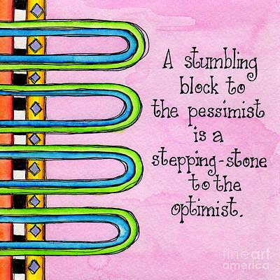 Pessimist Digital Art - Stumbling Block by Debi Payne