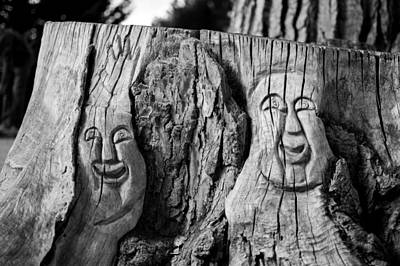 Stump Faces 2 Art Print