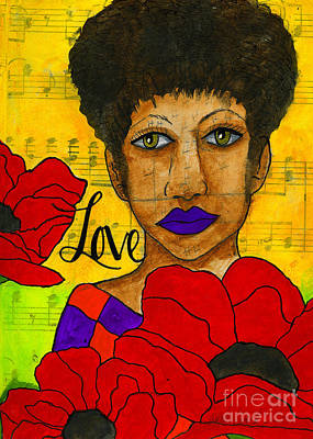 Mixed Media - Stung By Love by Angela L Walker