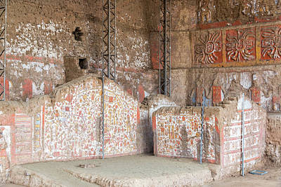 Mochica Photograph - Stunning Ancient Mural In Peru by Jess Kraft