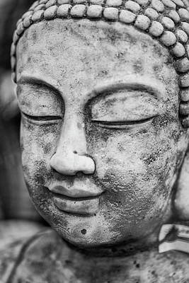 Statue Portrait Photograph - Stunning Buddha Statue Portrait With Shallow Depth Of Field And  by Matthew Gibson
