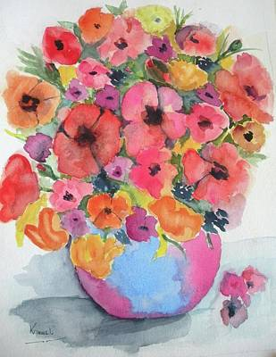 Painting - Stunning Flower Arrangement by Harold Kimmel