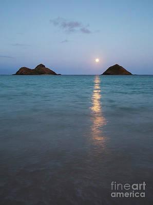 Stunning Hawaii Moonrise Art Print by Charmian Vistaunet