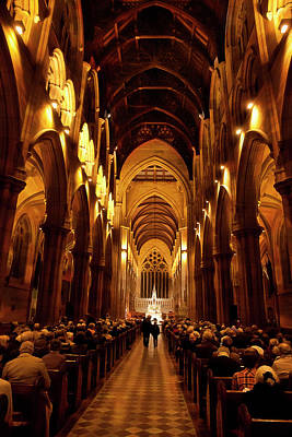 Photograph - Stunning Interior Of St Mary's Cathedral by Miroslava Jurcik