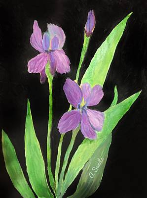 Painting - Stunning Irises by Anne Sands