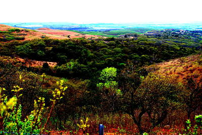 Konza Prairie Photograph -  The Heart Of Kansas By Earl's Photography by Earl  Eells a