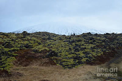 Photograph - Stunning Landscape In Iceland With A Icecap Mountain  by DejaVu Designs