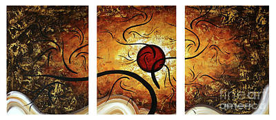 Stunning Original Landscape Painting Red Orb By Megan Duncanson Art Print by Megan Duncanson