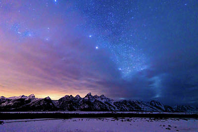 Photograph - Stunning Star Filled Grand Teton Night Sky by Serge Skiba