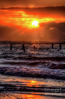 Photograph - Stunning Stormy Sunrise Outer Banks by Dan Carmichael