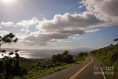 Stunning Sunset On Kula Road Maui Hawaii Art Print by Denis Dore