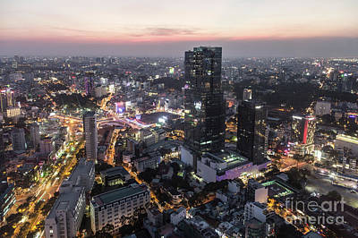 Photograph - Stunning Sunset Over Ho Chi Minh City In Vietnam by Didier Marti