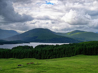 Photograph - Stunning Valley In Upper Scotland Of The United Kingdom by Ron Grafe