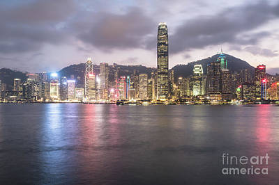Photograph - Stunning View Of Hong Kong Island Central Business District Skyl by Didier Marti