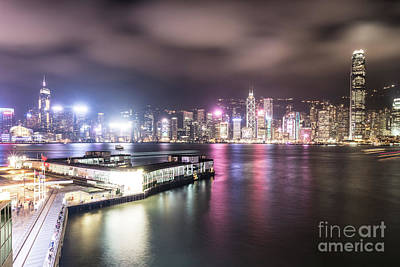 Photograph - Stunning View Of Hong Kong Island Skyline And The Star Ferry Pie by Didier Marti