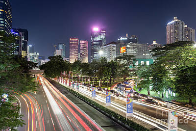 Photograph - Stunning View Of Jakarta Business District At Night by Didier Marti