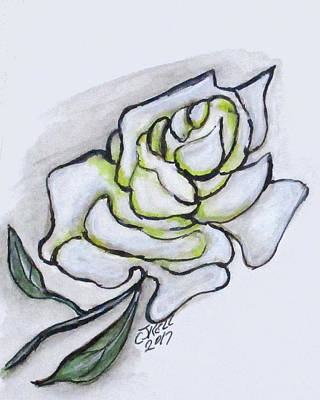 Painting - Stunning White Rose by Clyde J Kell