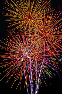 Photograph - Stunningly Beautiful Fireworks by Garry Gay