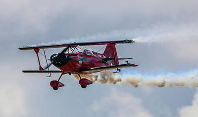Photograph - Stunt Biplane by Tom Claud