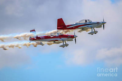 Photograph - Stunt Plane Formation by Tom Claud