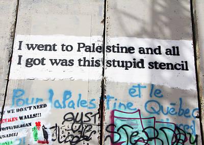 Photograph - Stupid Stencil by Munir Alawi