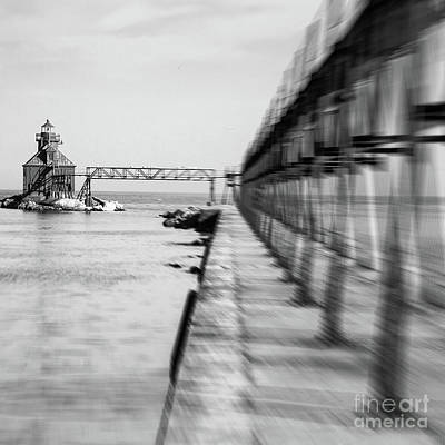 Nikki Vig Royalty-Free and Rights-Managed Images - Sturgeon Bay Lighthouse Pierhead by Nikki Vig