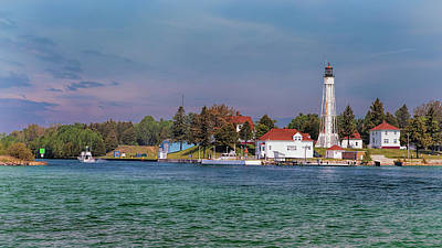 Photograph - Sturgeon Bay Ship Canal Light Tower by Susan Rissi Tregoning