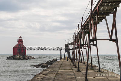 Photograph - Sturgeon Bay Ship Canal North Pierhead Lighthouse 1 by Margie Hurwich