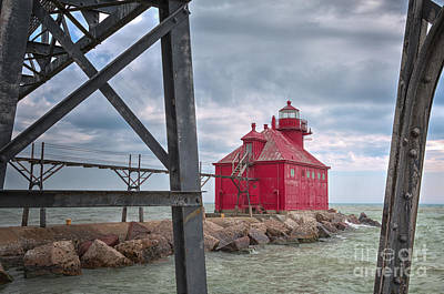 Photograph - Sturgeon Bay Ship Canal North Pierhead Lighthouse 2 by Margie Hurwich
