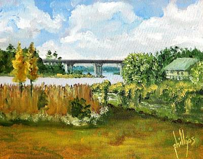Painting - Sturgeon City Park by Jim Phillips