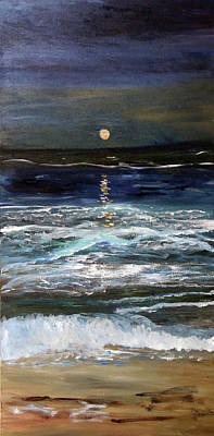 Painting - Sturgeon Moon by Michael Helfen