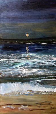 Painting - Sturgeon Moon by Michael Helfen
