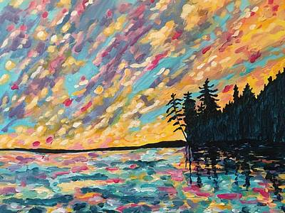 Painting - Sturgeon Sunset by Debbie Axiak