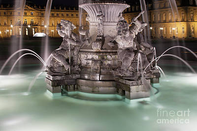 Fountain Wall Art - Photograph - Stuttgart by Smart Aviation