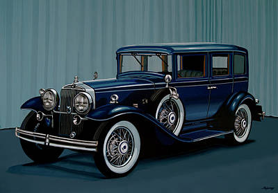 Painting - Stutz Dv32 1933 Painting by Paul Meijering