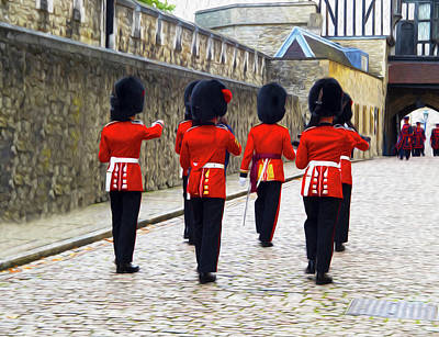 Tower Of London Wall Art - Photograph - Step Aside For The Tower Guard by Joe Schofield