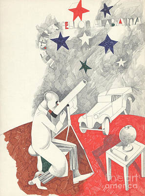 Alabama Drawing - Stars Fell On Alabama by Edward Henrion