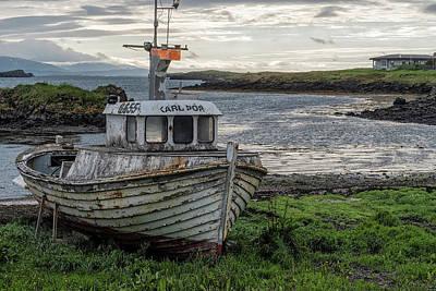 Photograph - Stykkisholmur Fishing Boat by Tom Singleton