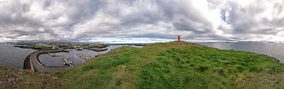Photograph - Stykkisholmur Harbor Pano by Tom Singleton